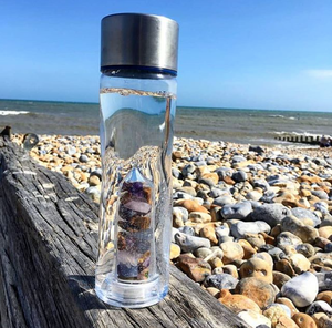 Crystal water bottle - Plastic - Elements