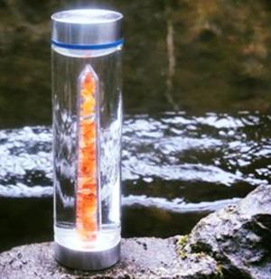 Kristallvattenflaska - Glas - Courage